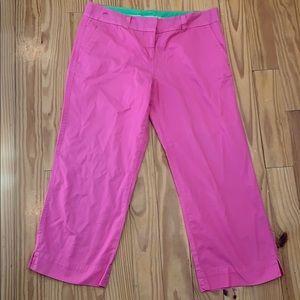 Lilly Pulitzer Pink Capri Pants